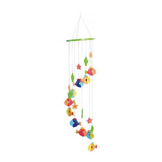 Hangdecoratie mobiel met vissen 65 cm