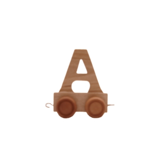 Houten letter trein A