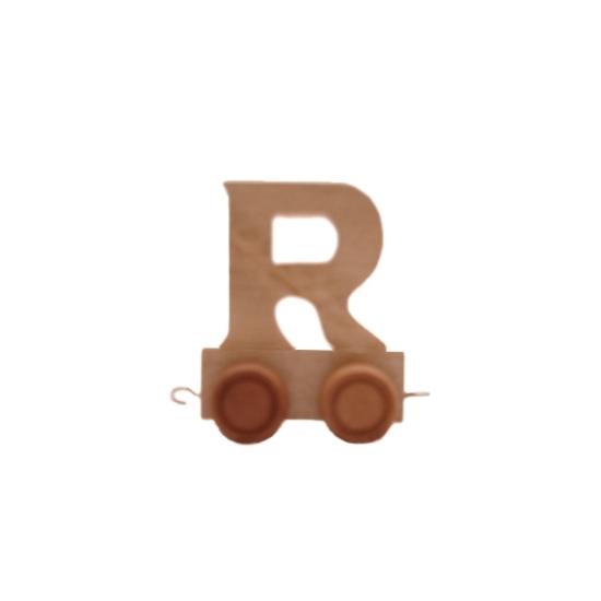 Houten letter trein R