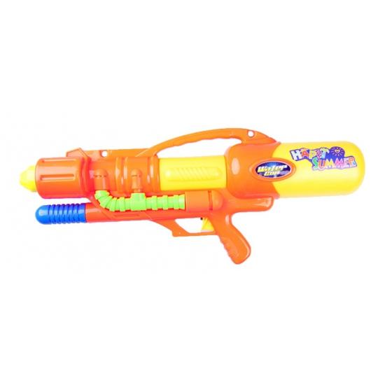 Oranje mega waterpistool met pomp 60 cm