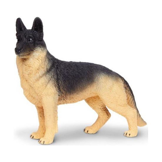Plastic Duitse Herder hond 9 cm