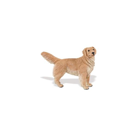 Plastic Golden Retriever hond 11 cm