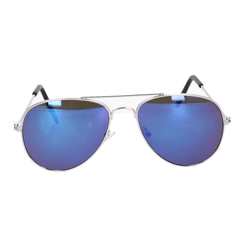 Spiegel piloten zonnebril blauw