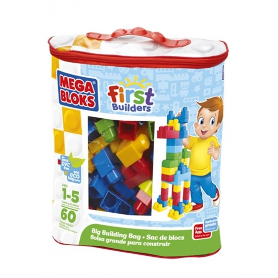XL bouwstenen in tas 60 stuks