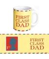 Koffie mok First Class Dad