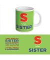 Koffie mok Sister