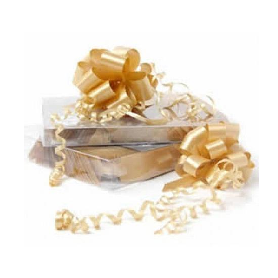 Decoratie strik goud 8 cm