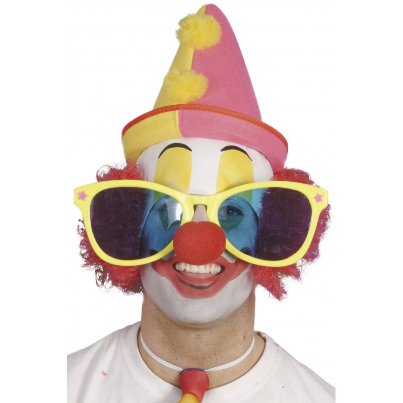 Grote clowns bril