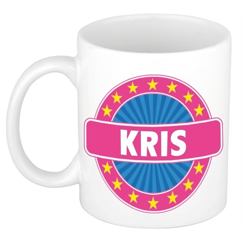 Kris naam koffie mok-beker 300 ml
