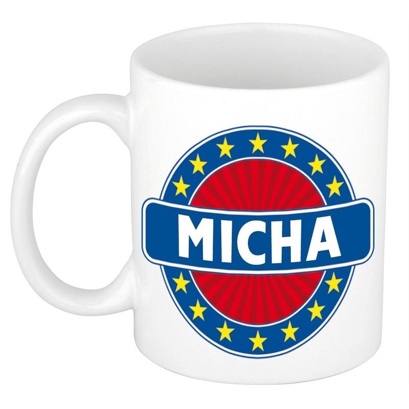 Micha naam koffie mok-beker 300 ml