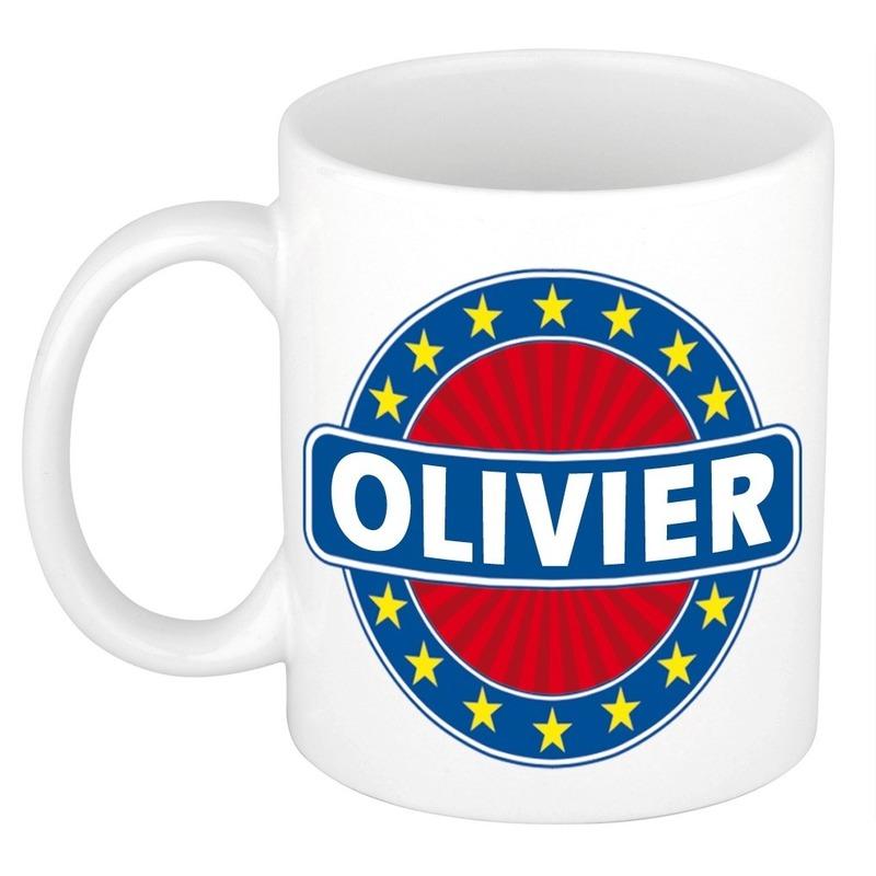 Olivier naam koffie mok-beker 300 ml