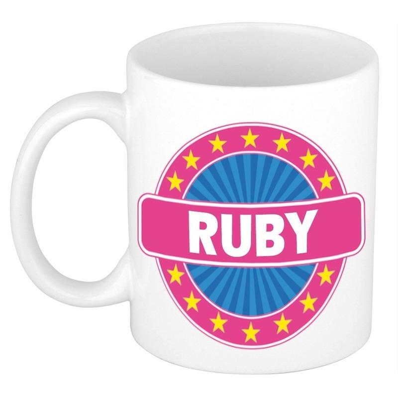 Ruby naam koffie mok-beker 300 ml