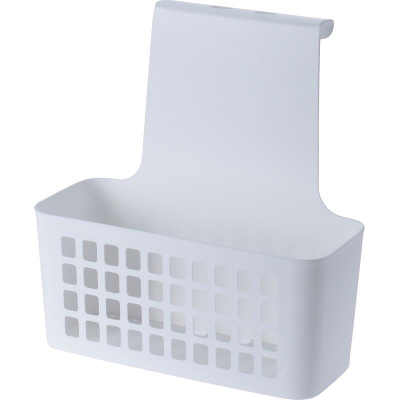 Witte badkamer of kasten opberg-sorteer hang mandje 25 cm