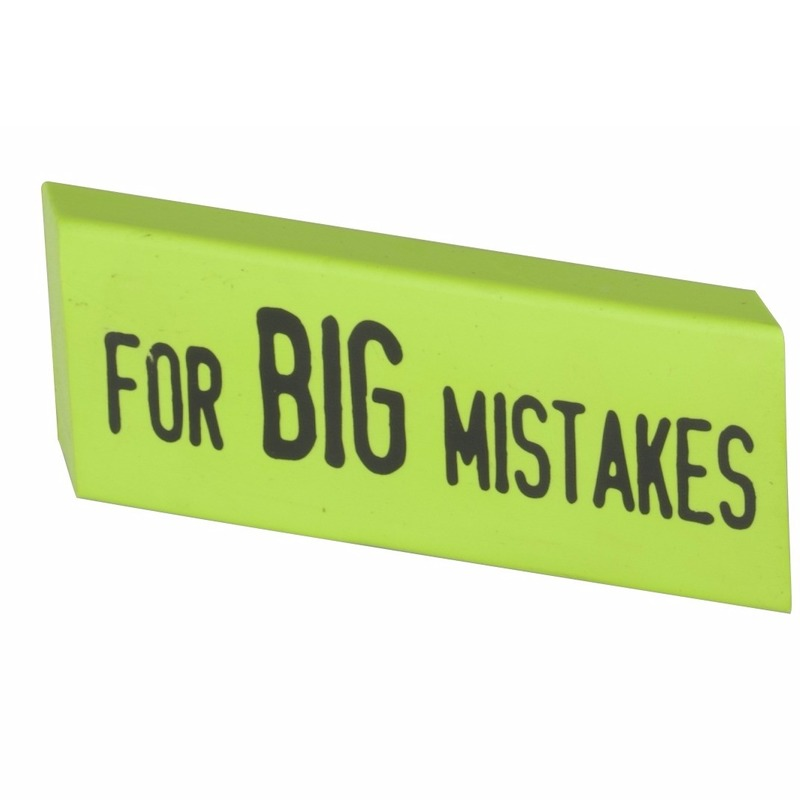 XXL Big Mistake gum 14 x 4,5 cm groen