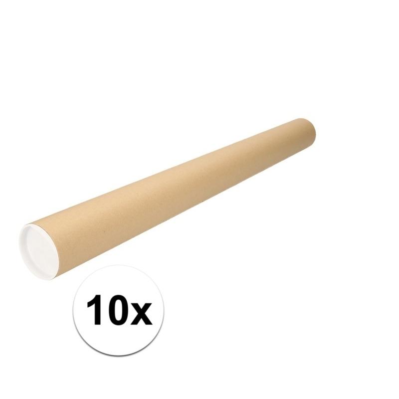 10x kartonnen poster kokers A1