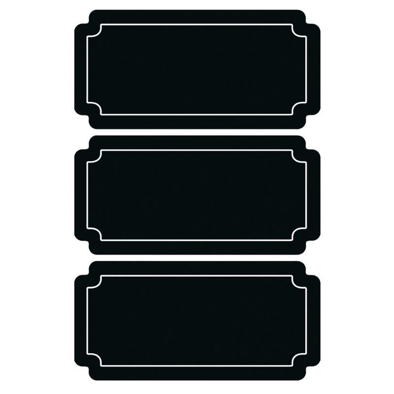 18x Krijtbord voorraadkast etiketten-stickers rechthoekig