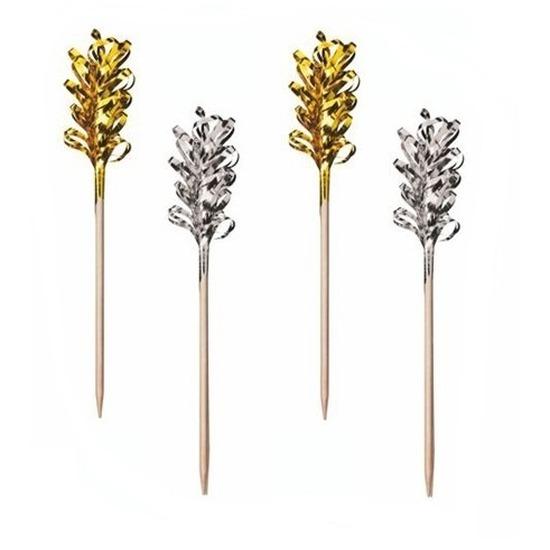 30x decoratieprikkers goud/zilver