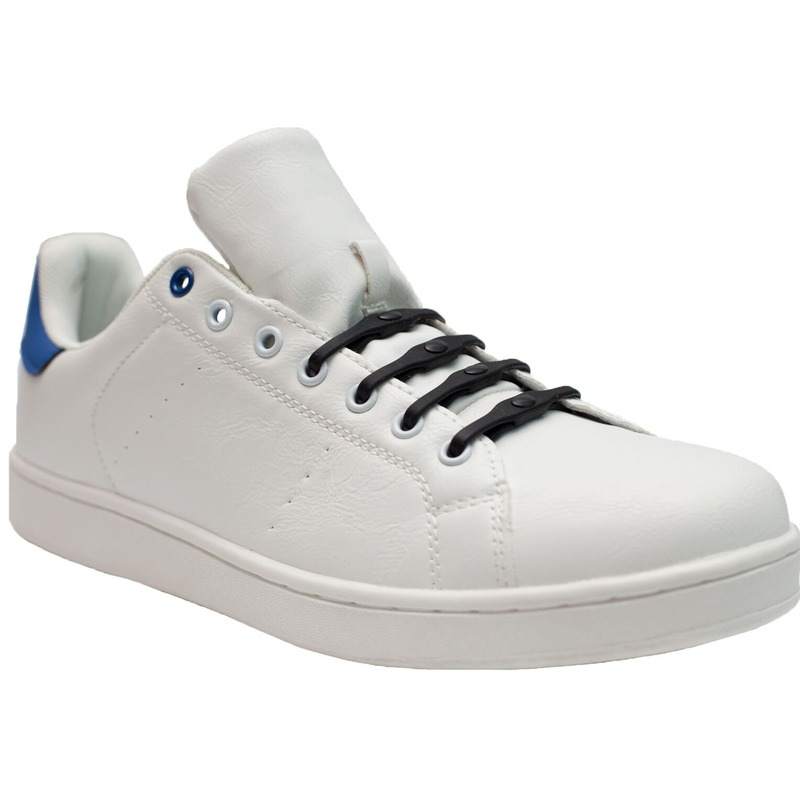 8x Shoeps XL elastische veters zwart brede voeten voor volwassen