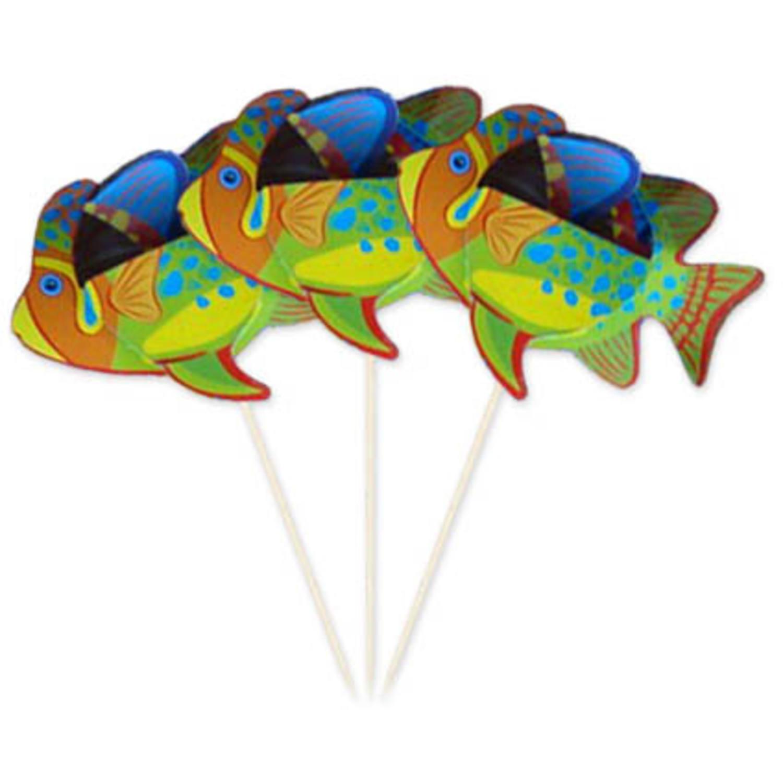 8x stuks grote prikkers tropische vissen 15 cm