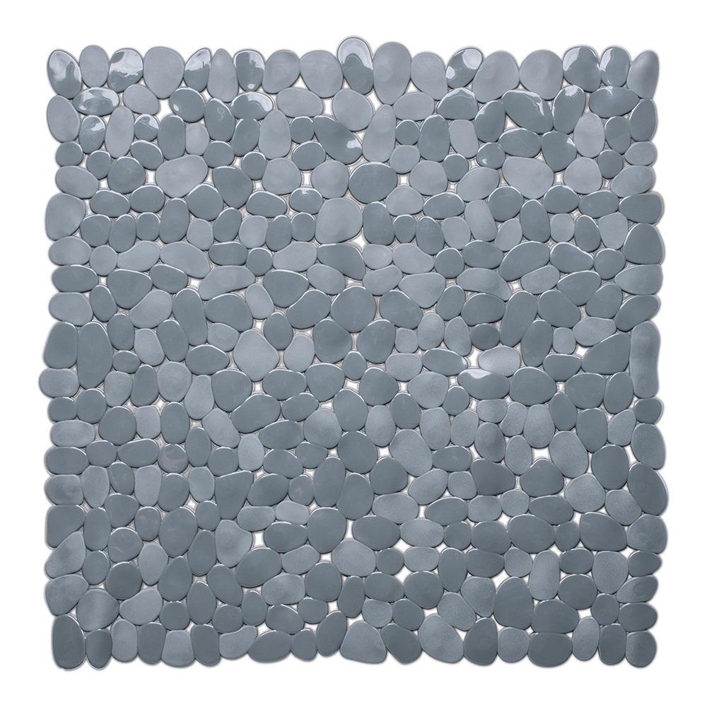Grijze anti-slip douche mat 53 x 53 cm vierkant