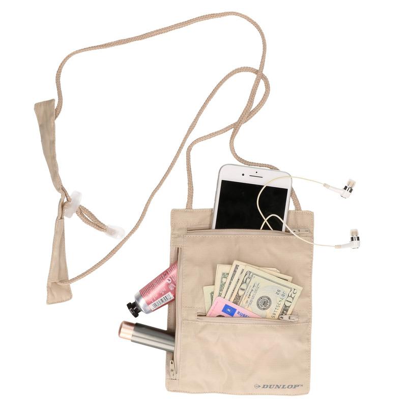 Handige halstas - nektasje reisportemonee 20 cm