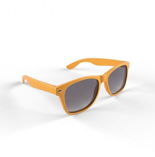 Hippe zonnebril met oranje montuur