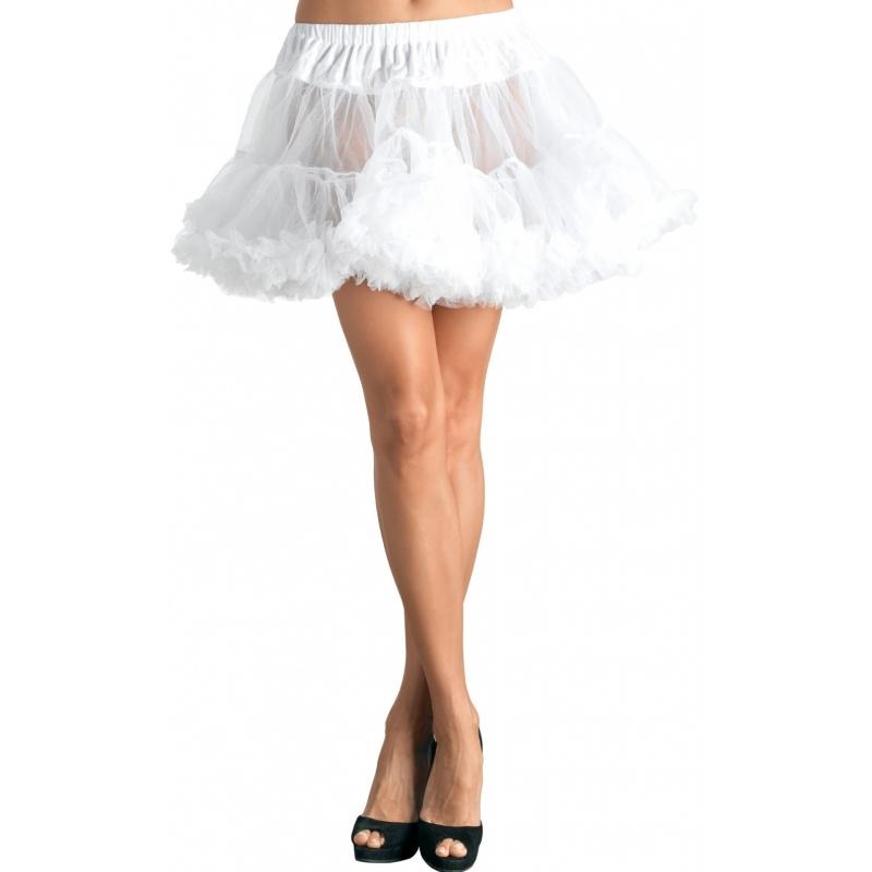 Korte witte petticoat/tutu voor dames