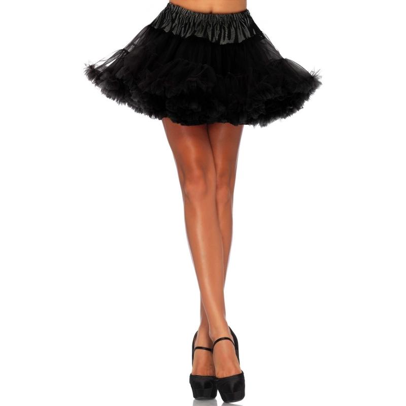 Korte zwarte petticoat/tutu voor dames