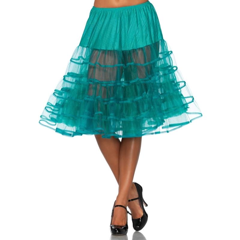 Lange jade groene petticoat voor dames