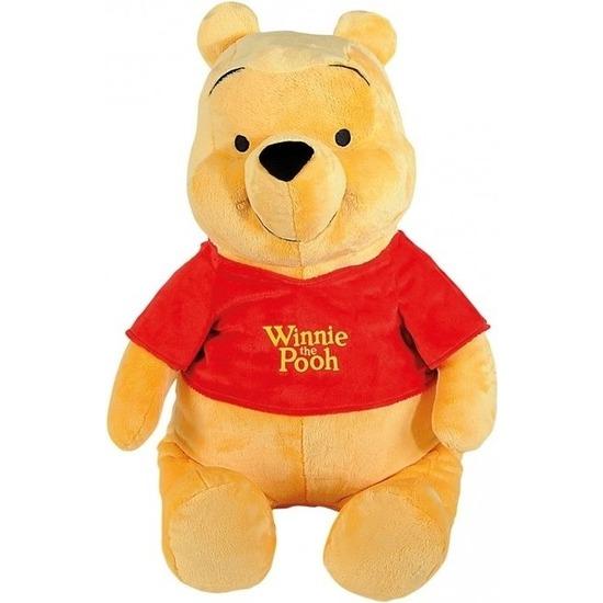 Pluche Winnie de Poeh knuffel 80 cm Disney speelgoed
