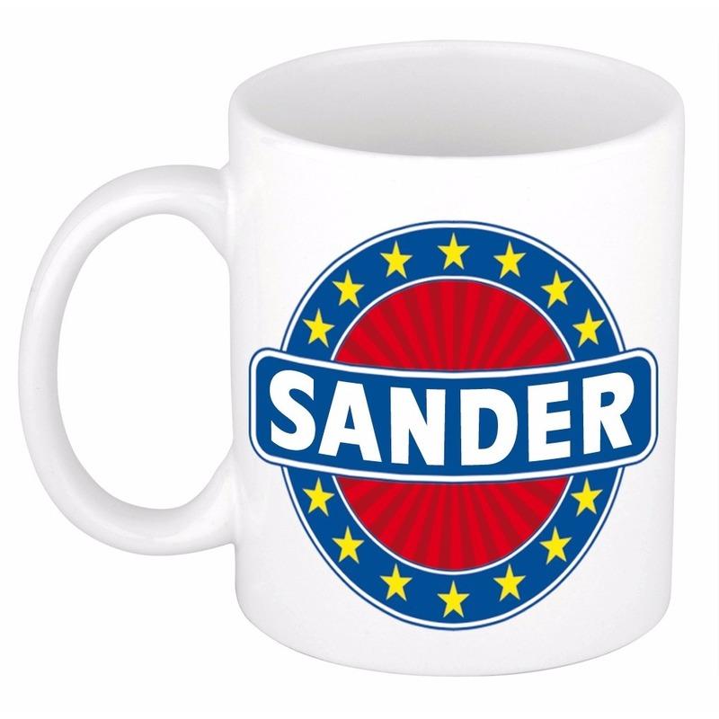 Sander naam koffie mok-beker 300 ml
