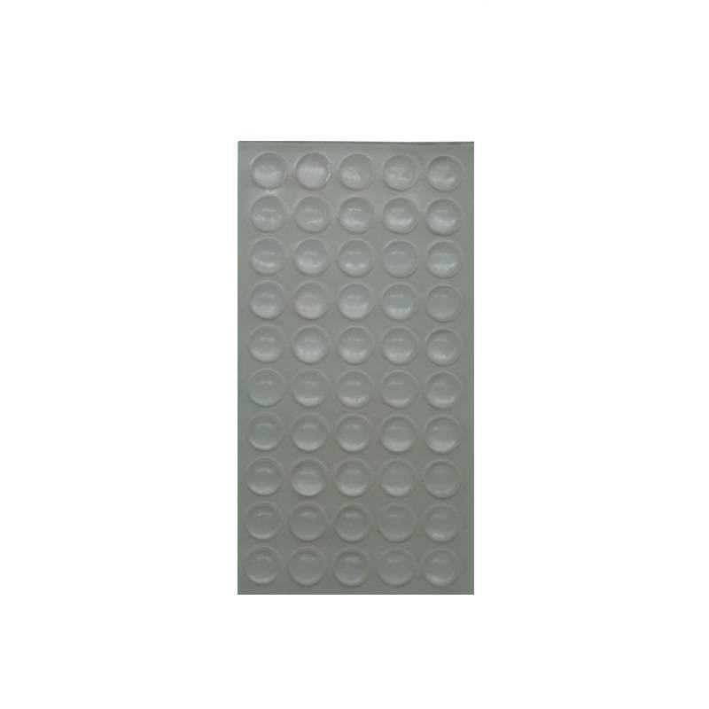Set van 50 stootdoppen - siliconendruppels - geluidsdempers 10 x 1,5 mm