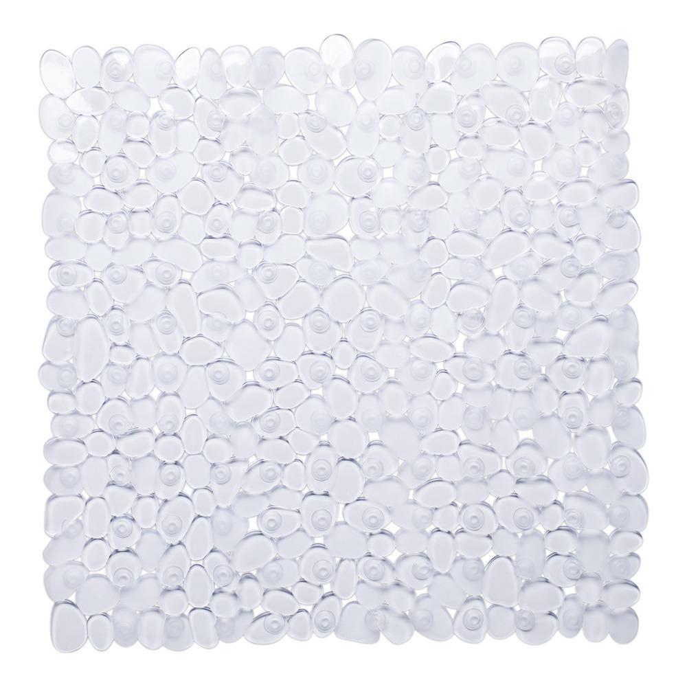 Transparante anti-slip douche mat 53 x 53 cm vierkant