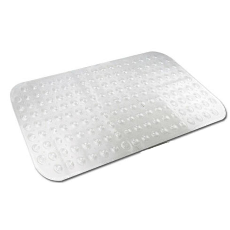 Transparante antislip badmat-douchemat 52 x 53 cm