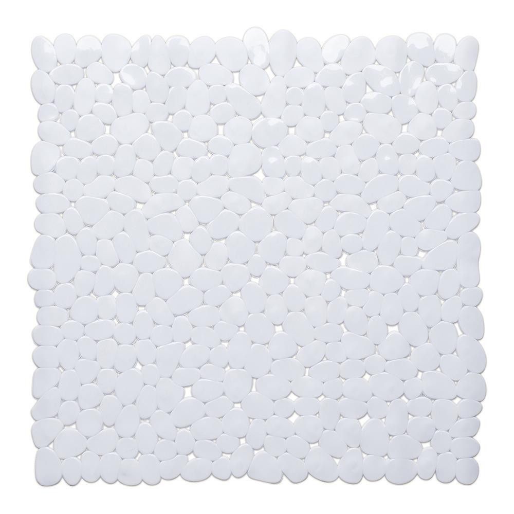 Witte anti-slip douche mat 53 x 53 cm vierkant