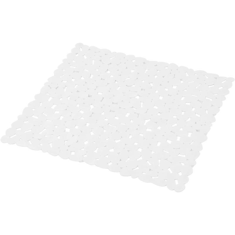 Witte anti-slip douchemat 52 x 52 cm vierkant