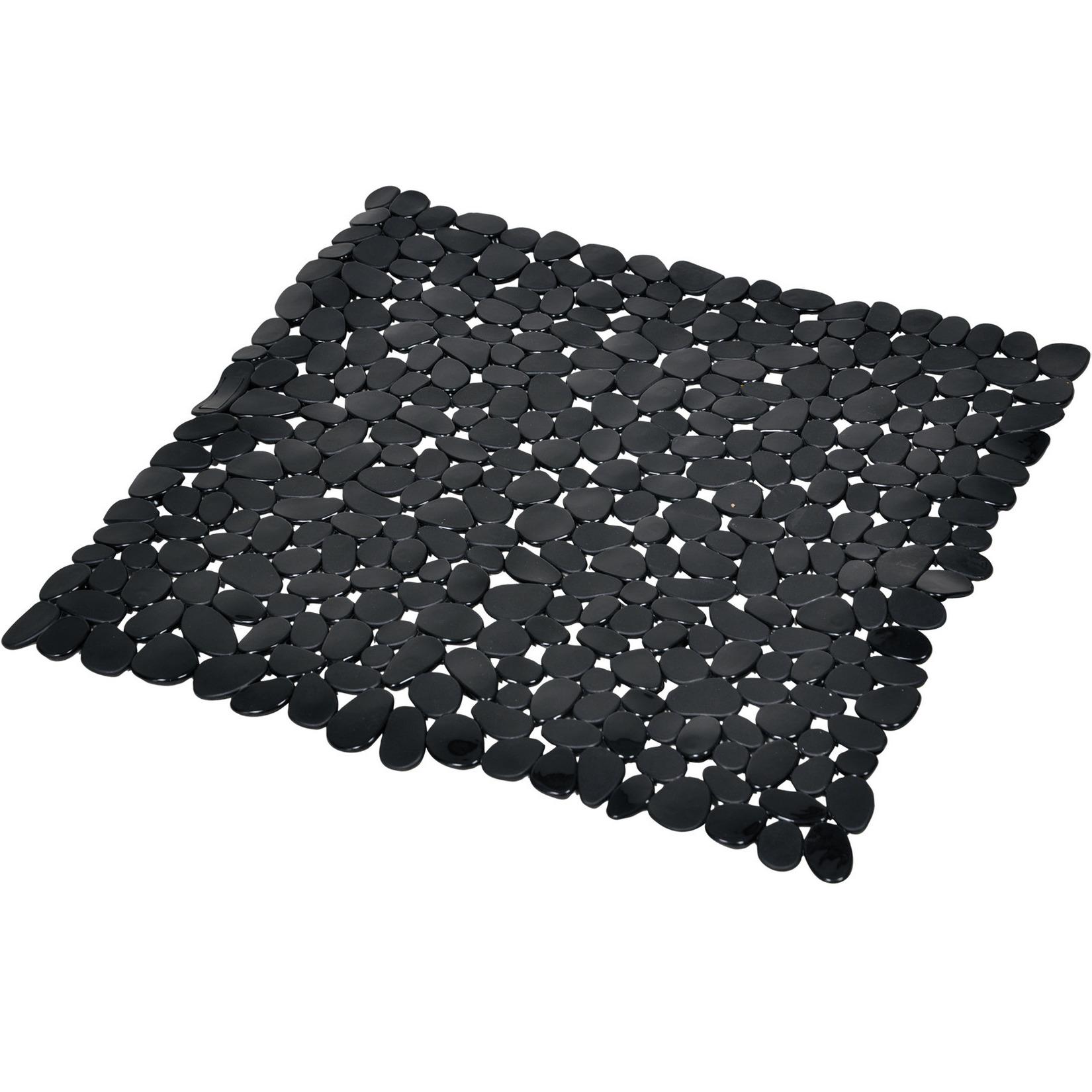 Zwarte anti-slip douchemat 52 x 52 cm vierkant